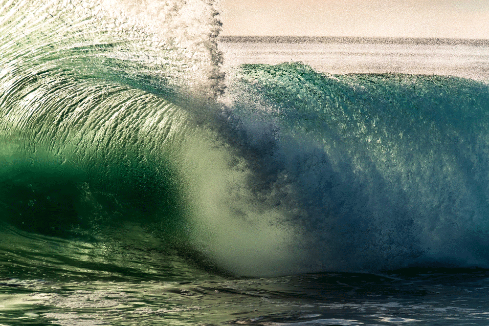 Wonderful wave in California